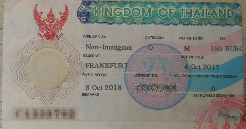 Non Immigrant Visa Thailand