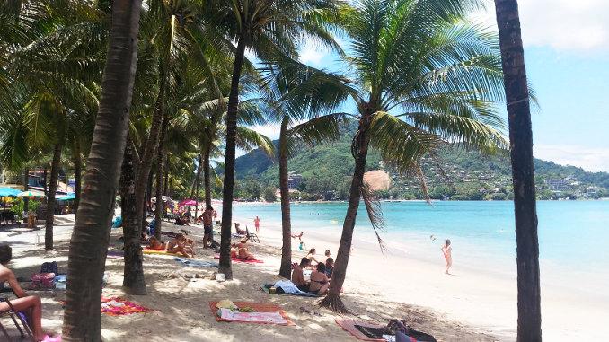 Tourist Beach on Phuket Thailand