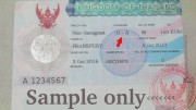Thai One Year Visa, Non Immigrant O-A