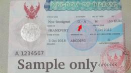 Thai One Year Visa, Non Immigrant O-A