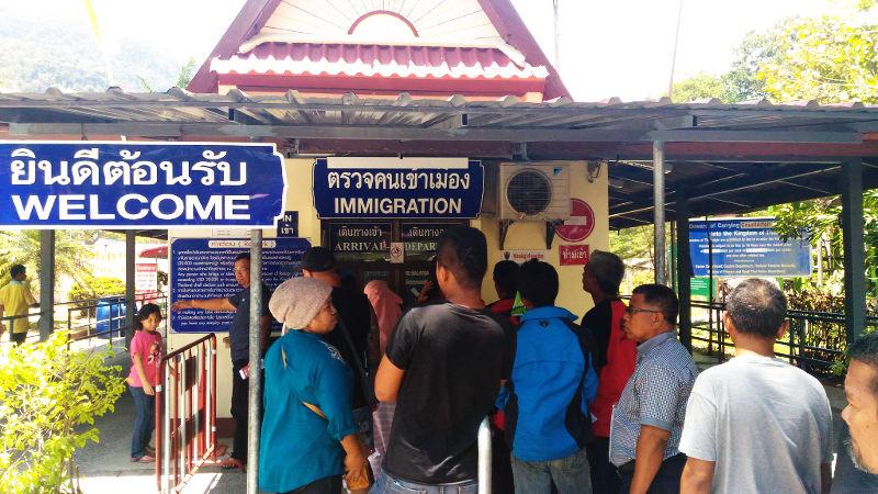 At the Border. Visa Run in Thailand